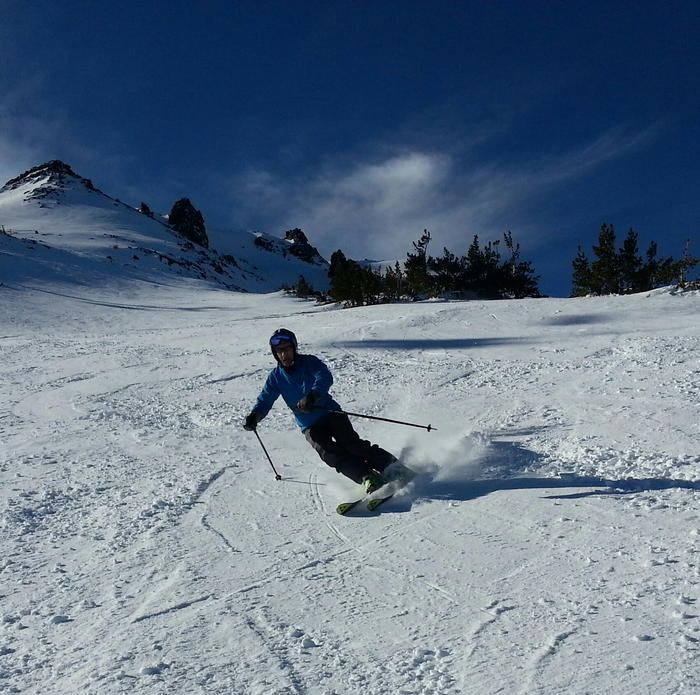 David skiing with Parkinson's disease