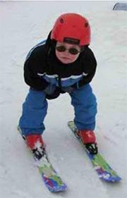 Daniel Wallhead skiing