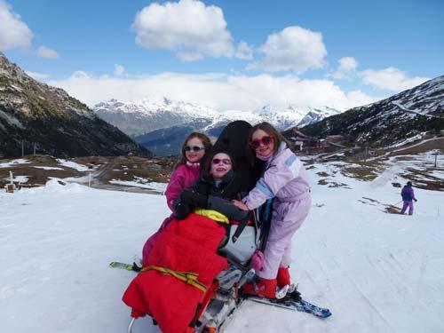 Mis skiing in Les Arcs