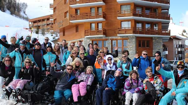 A group on holiday in La Plagne