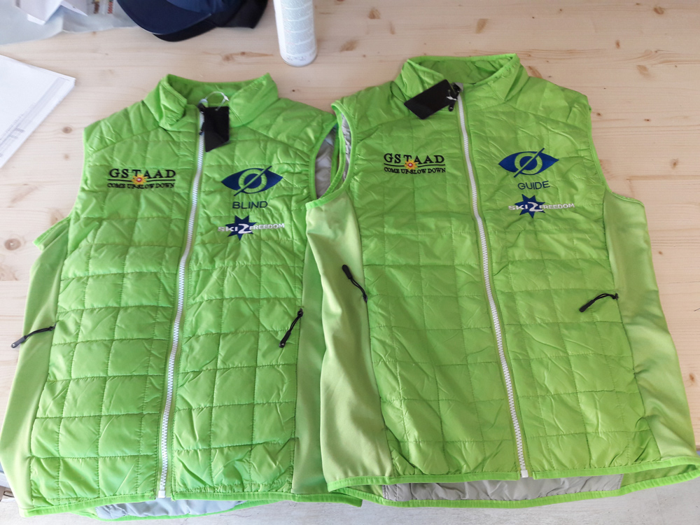 Front view Gilet jackets designed by Ski 2 Freedom