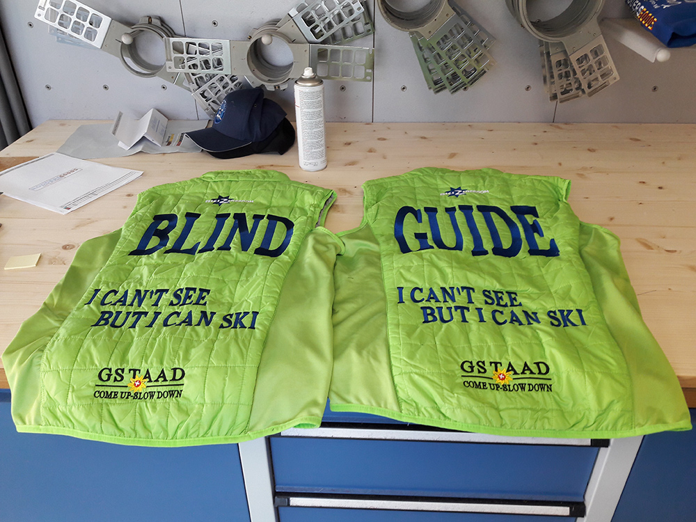 Rear view of Gilet jackets